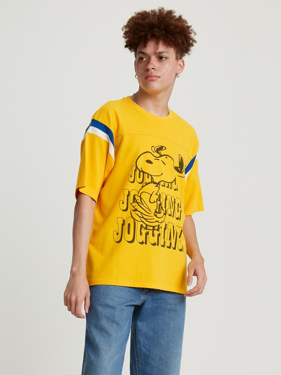 Koszulka Z Krótkim Rękawem Football Levis Jogging Snoopy Żółta