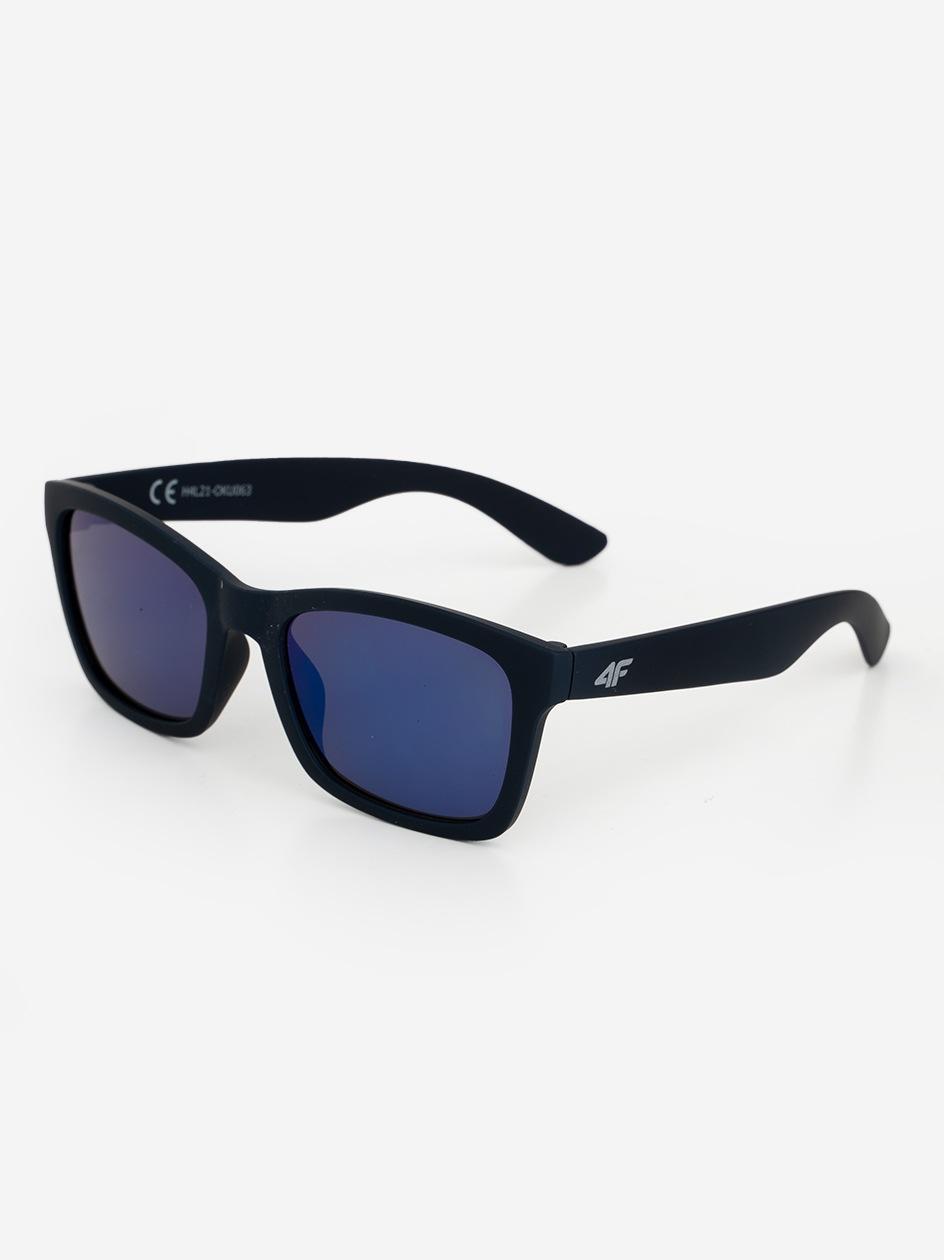 Okulary Przeciwsłoneczne 4F Classic Czarne / Niebieskie Lustro