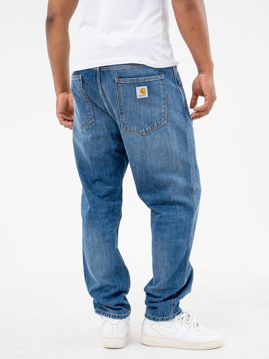 Spodnie Jeansowe Carhartt WIP Jacob Monroe Cotton Niebieskie