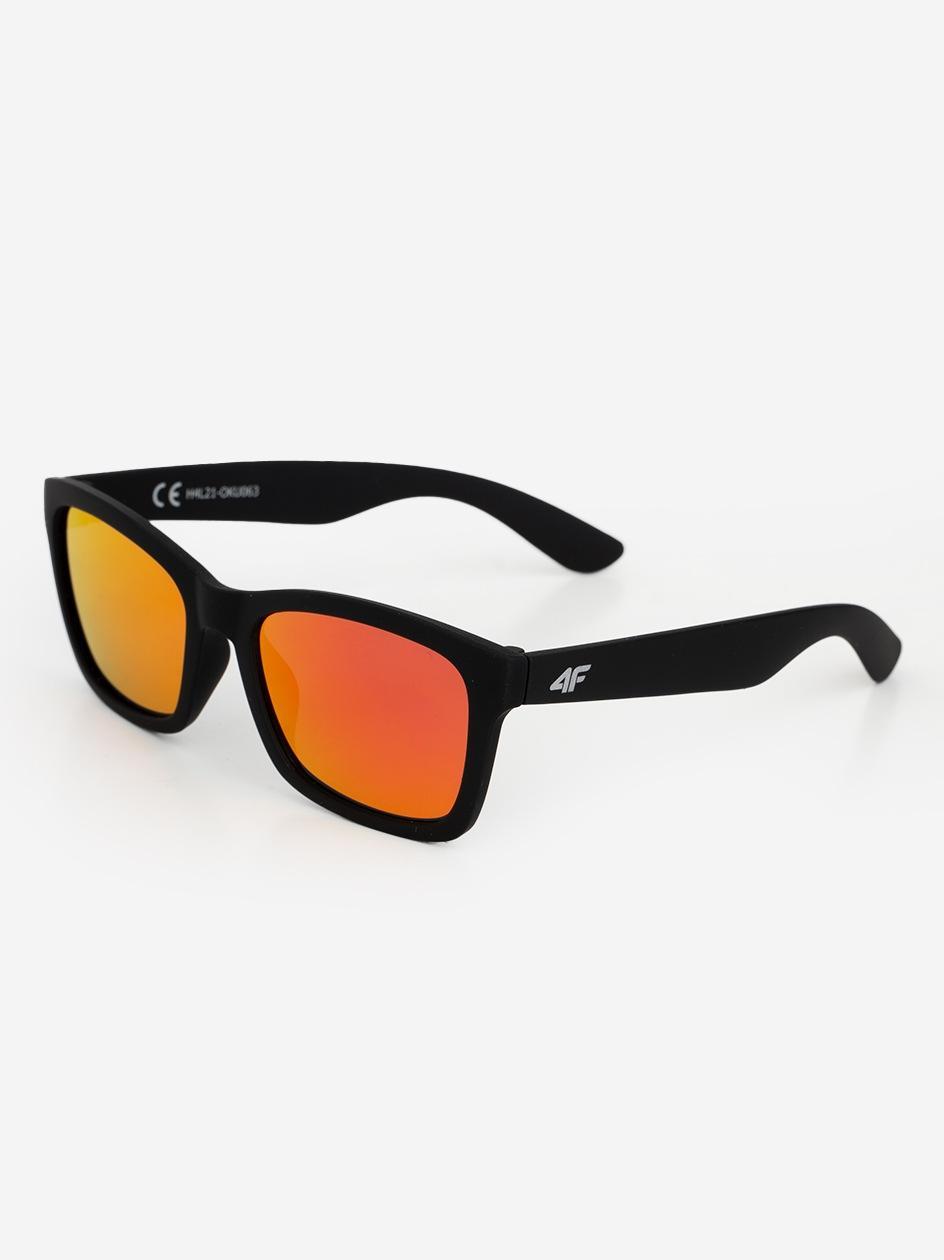 Okulary Przeciwsłoneczne 4F Classic Czarne / Czerwone Lustro
