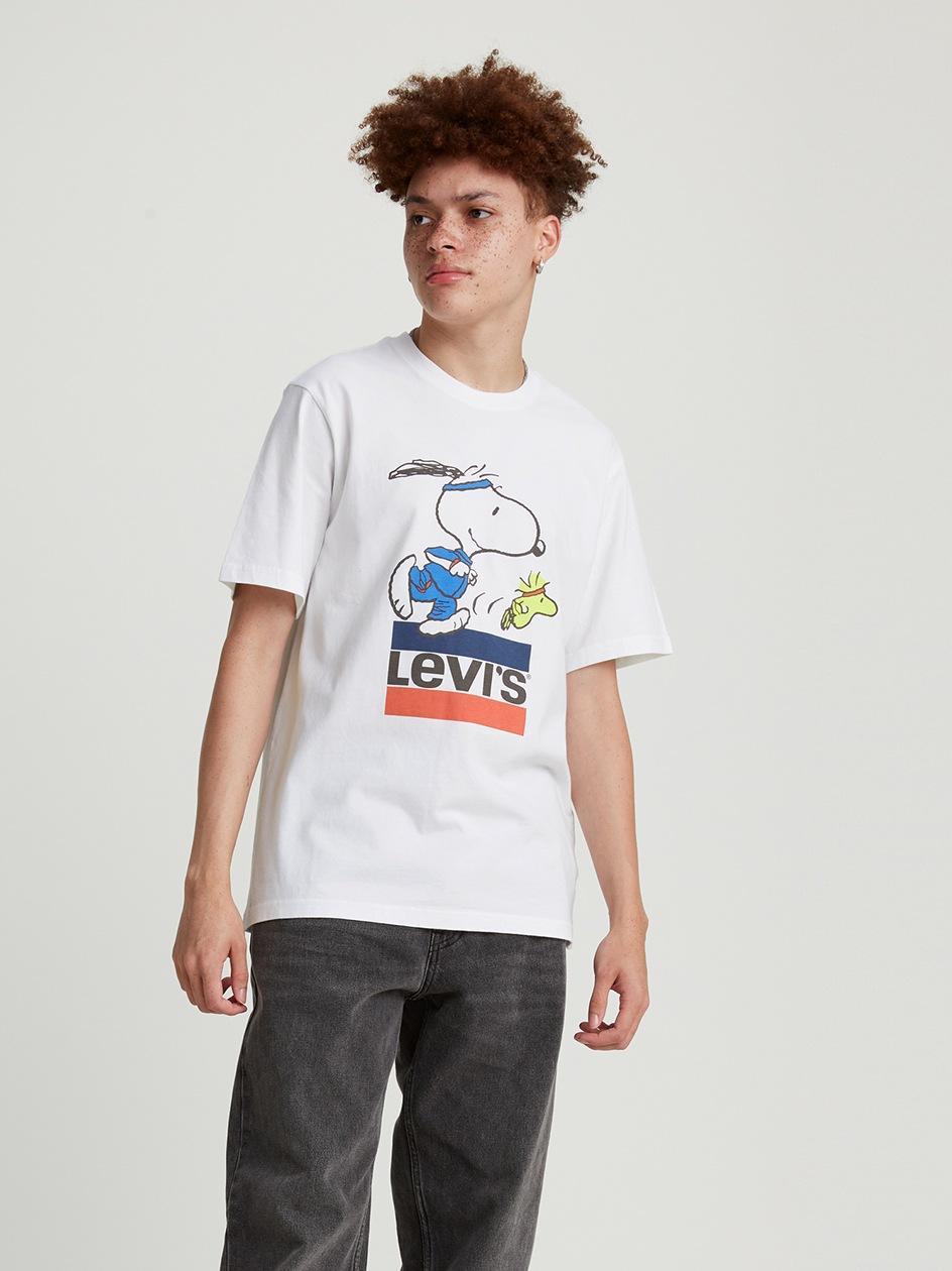 Koszulka Z Krótkim Rękawem Levis Torch Snoopy Biała