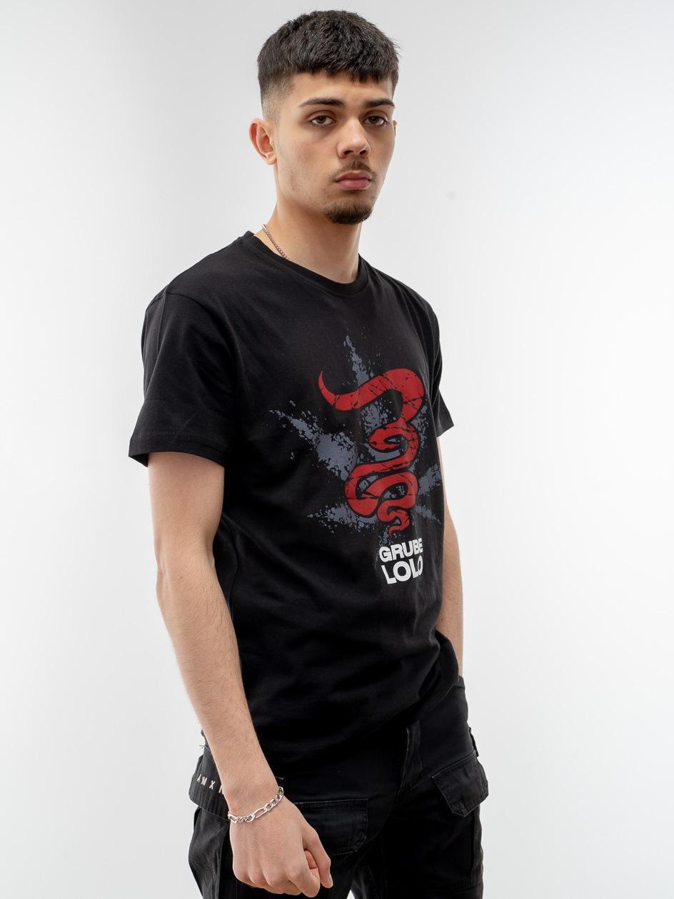 Koszulka Z Krótkim Rękawem Grube Lolo Cracked Logo Czarna