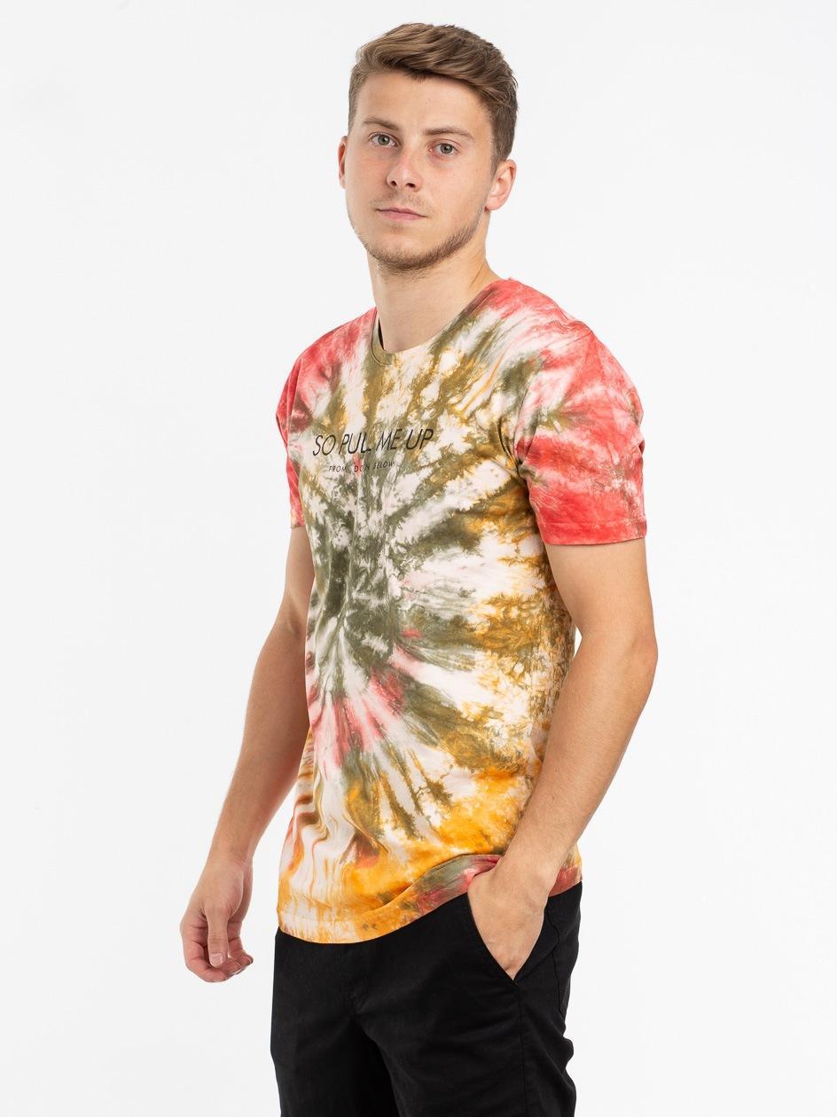 Koszulka Z Krótkim Rękawem Urban Selection Pull Me Up Tie Dye Czerwona