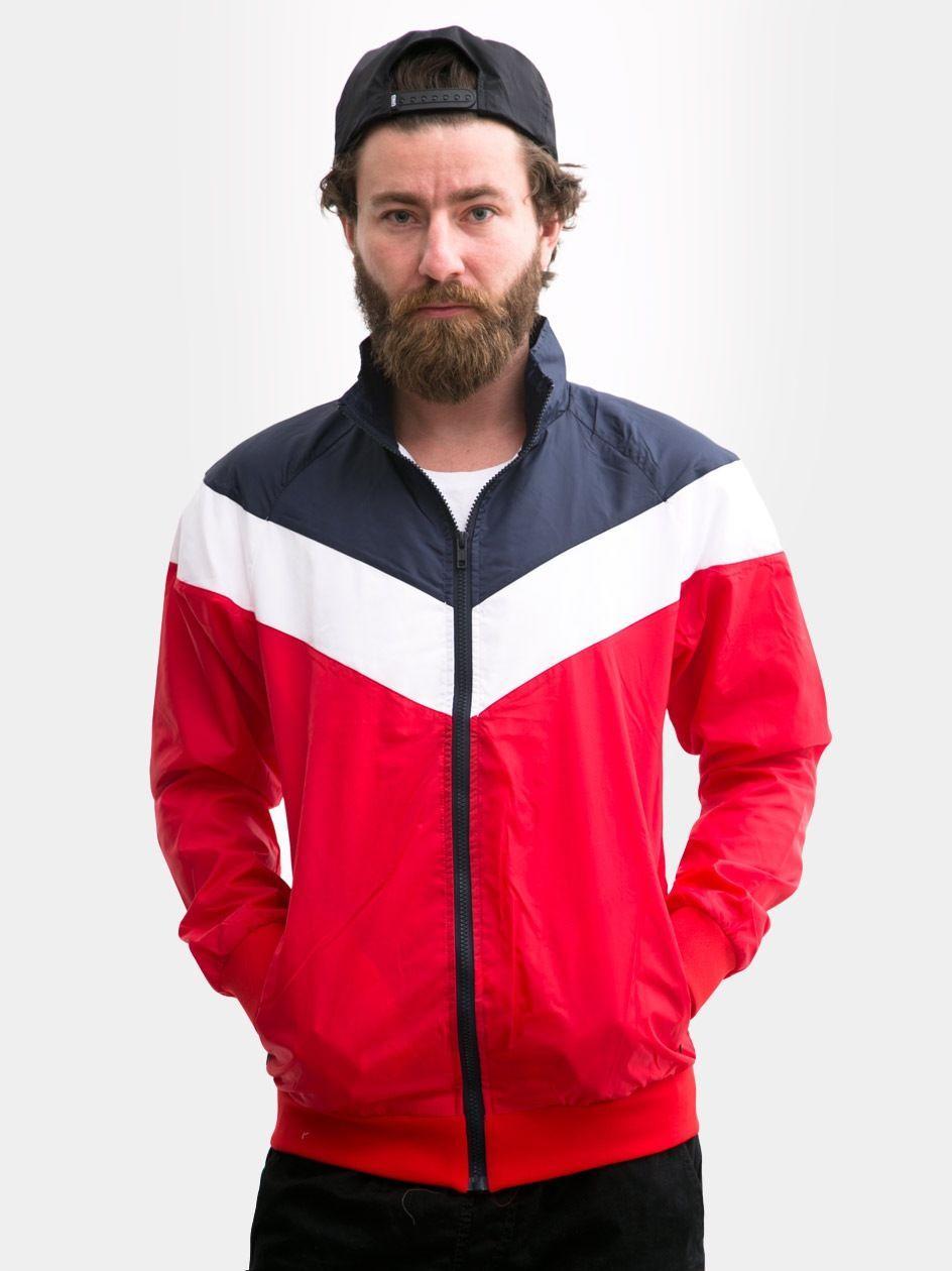 Arrow Zip Jacket Red Navy White TB1615