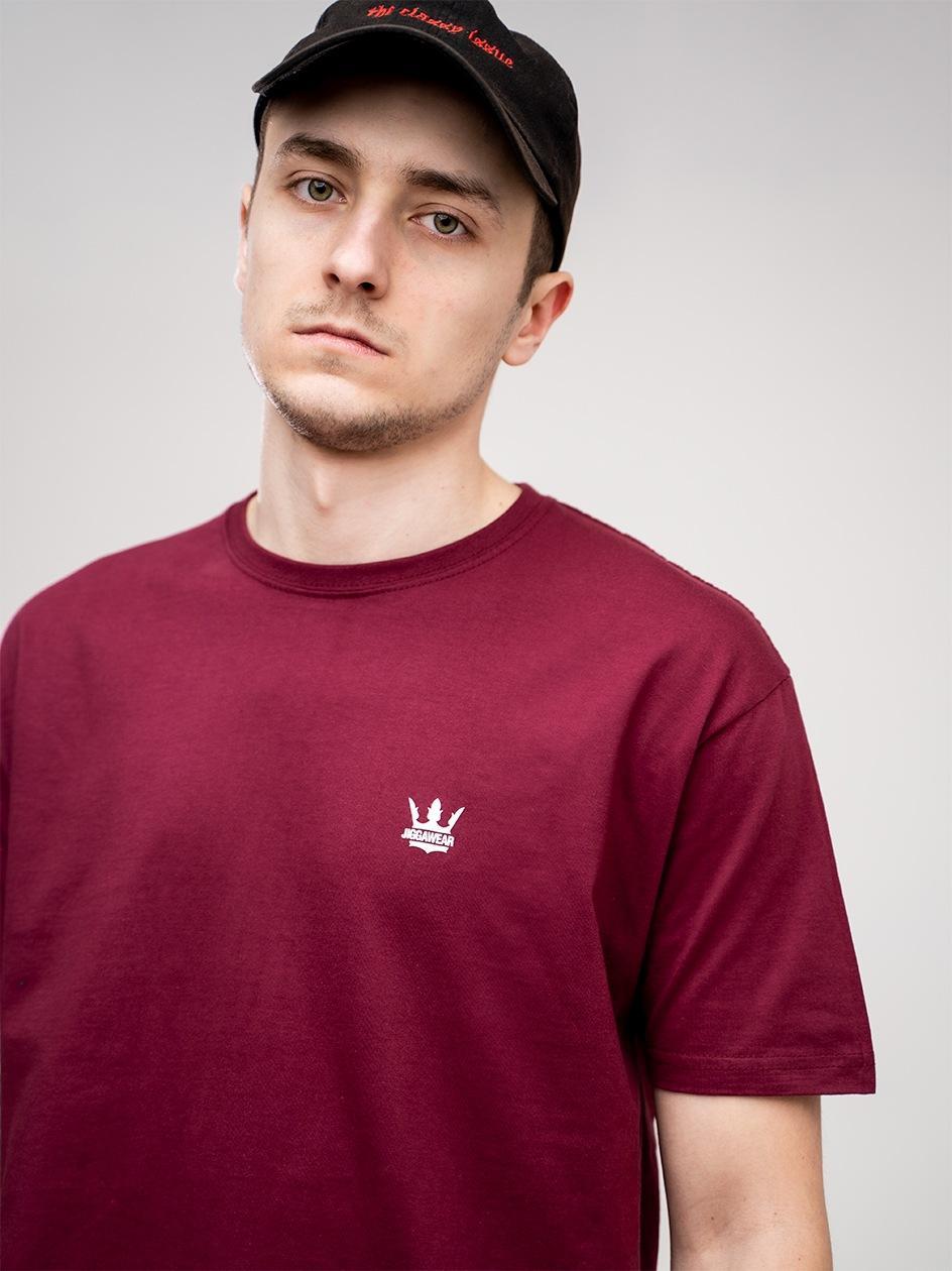 Koszulka Z Krótkim Rękawem Jigga Wear Mini Crown Bordowa