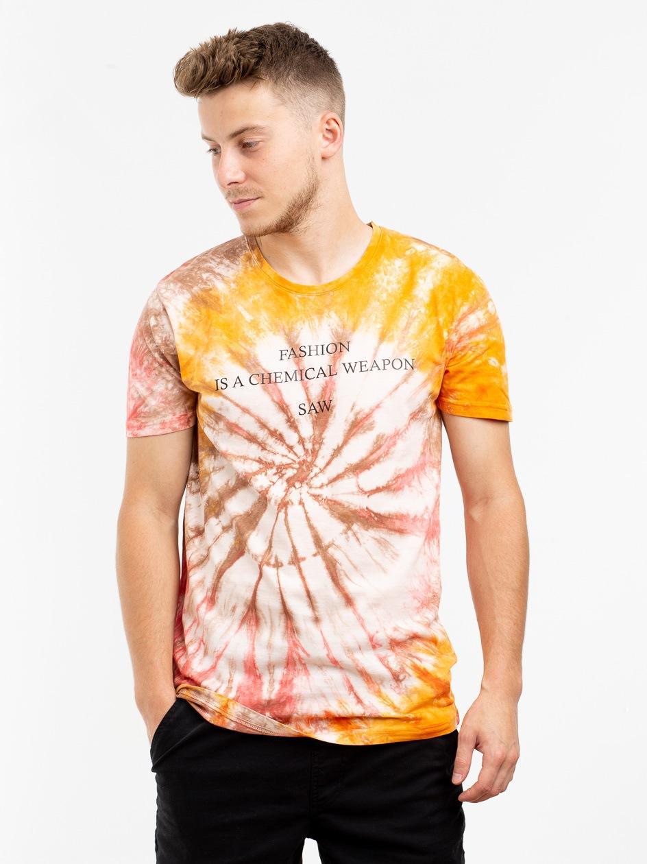 Koszulka Z Krótkim Rękawem Urban Selection Fashion Tie Dye Pomarańczowa