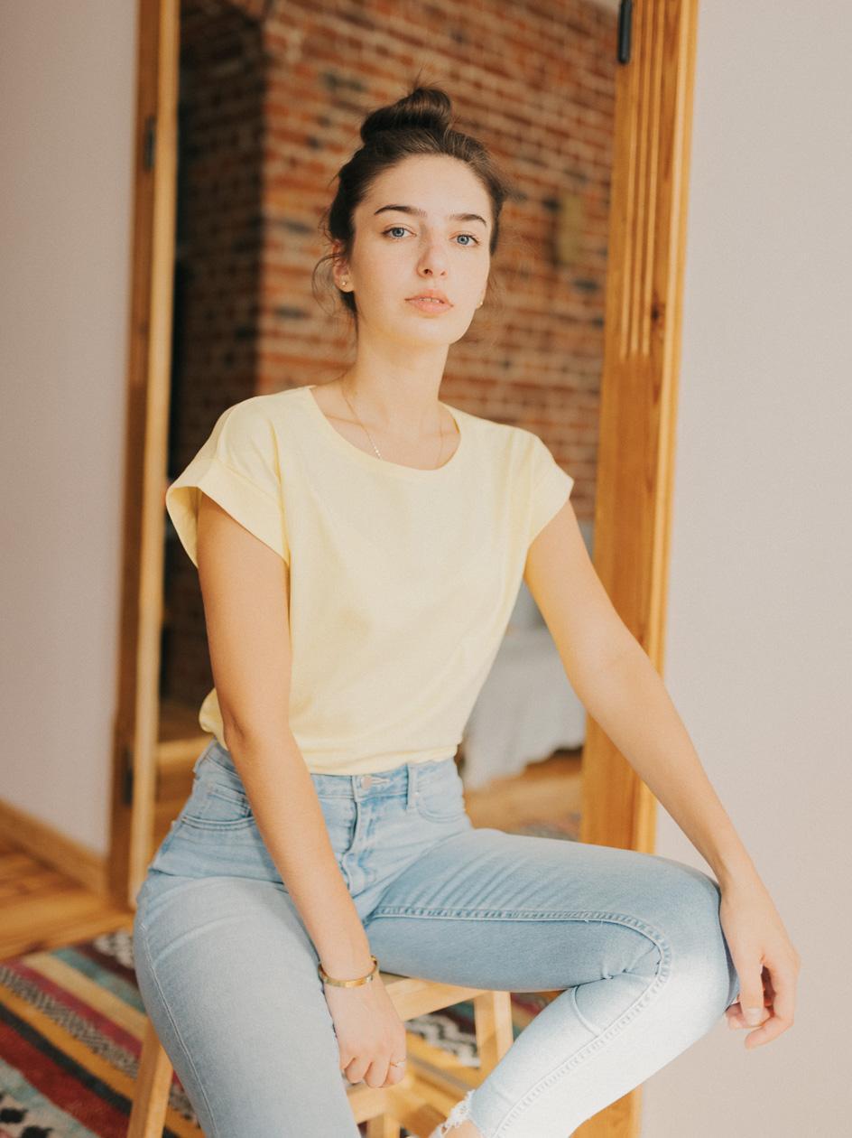 Damska Koszulka Z Krótkim Rękawem Point X Classic Żółta