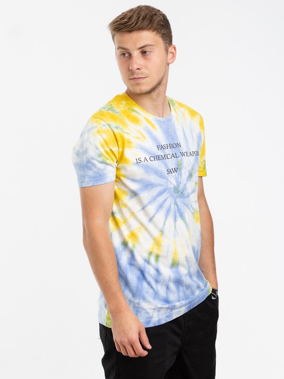 Koszulka Z Krótkim Rękawem Urban Selection Fashion Tie Dye Żółta