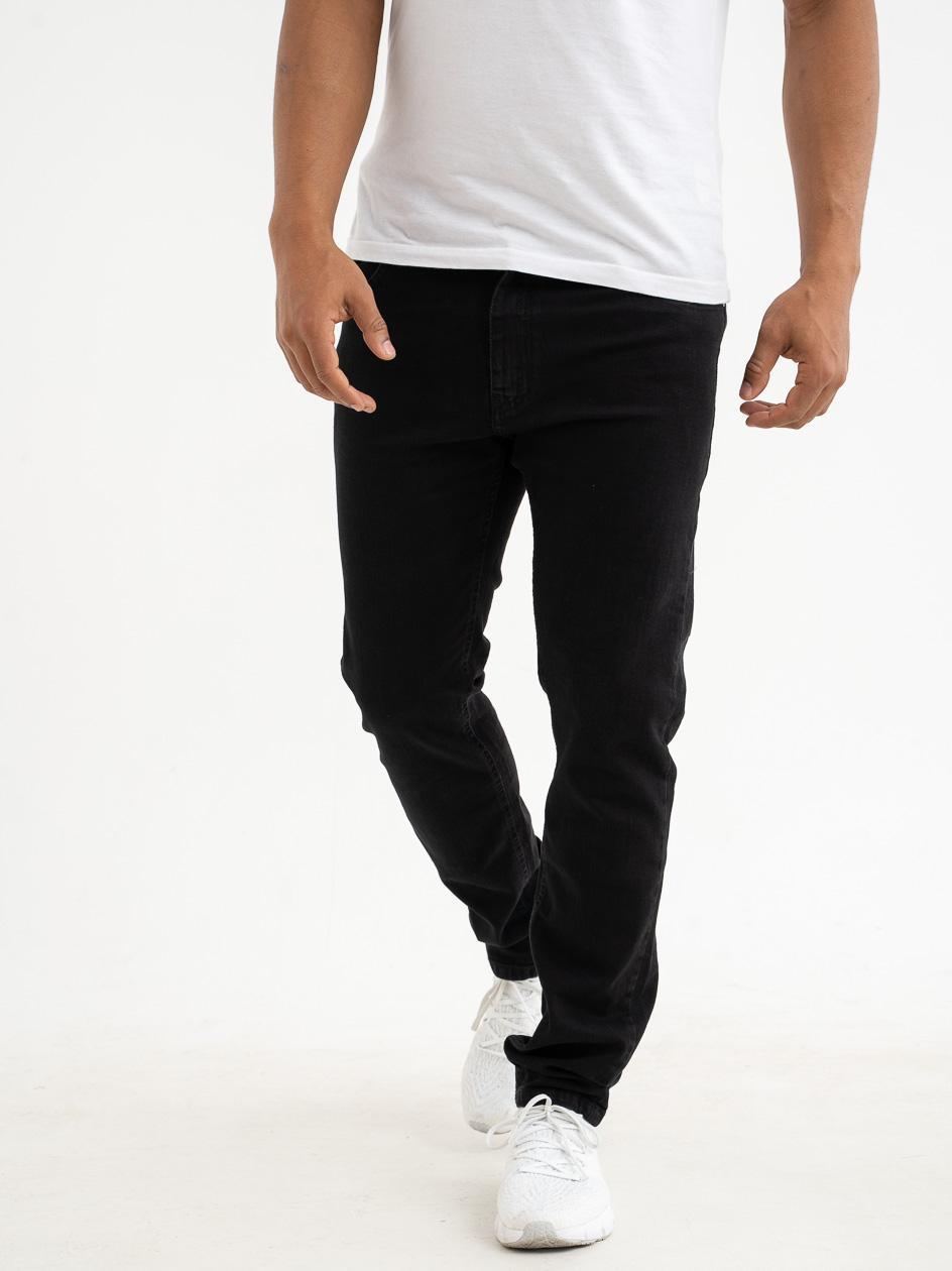Spodnie Jeansowe Slim Prosto Zappe Czarne