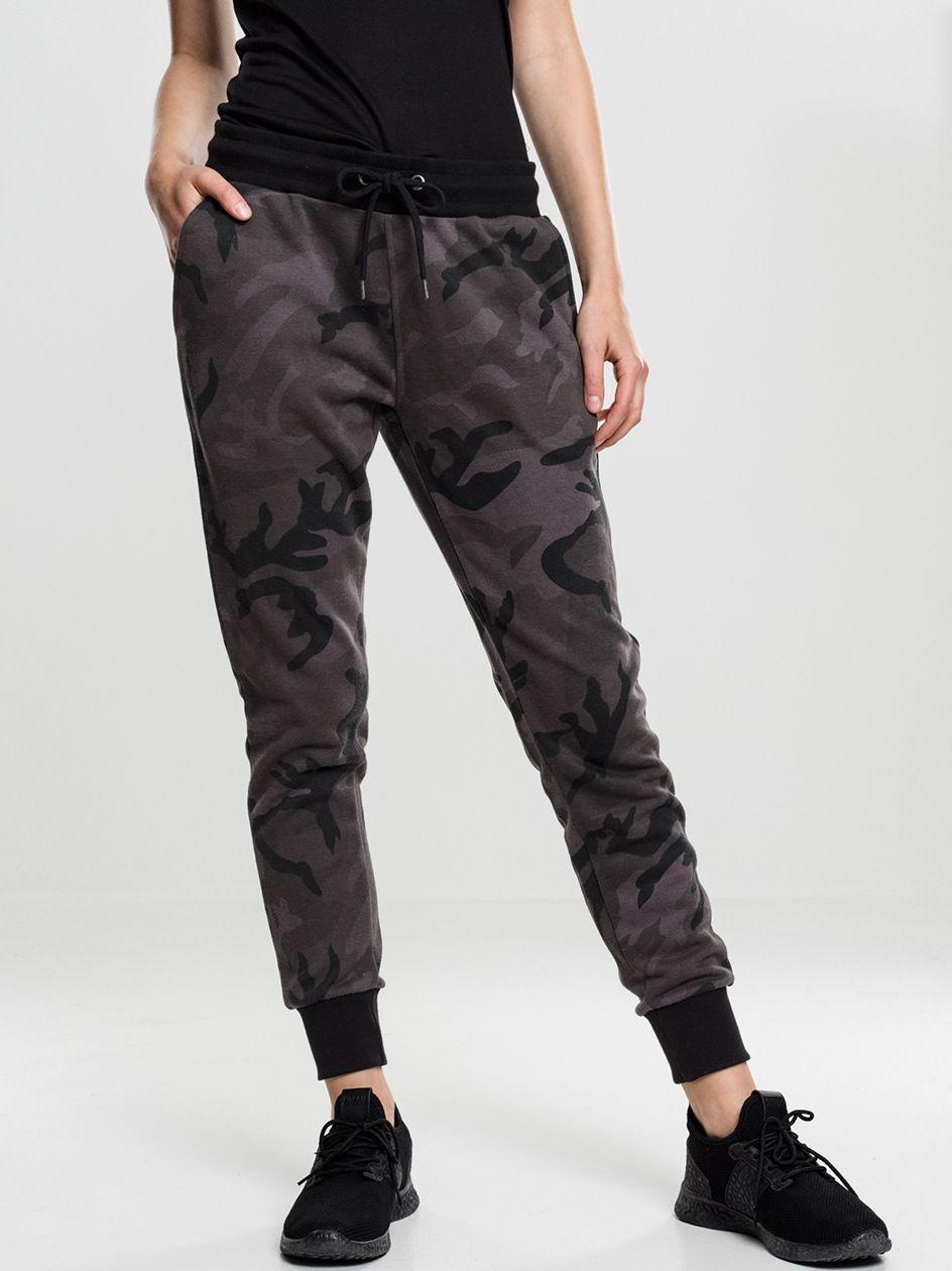 Damskie Spodnie Dresowe Urban Classics TB1638 Dark Camo