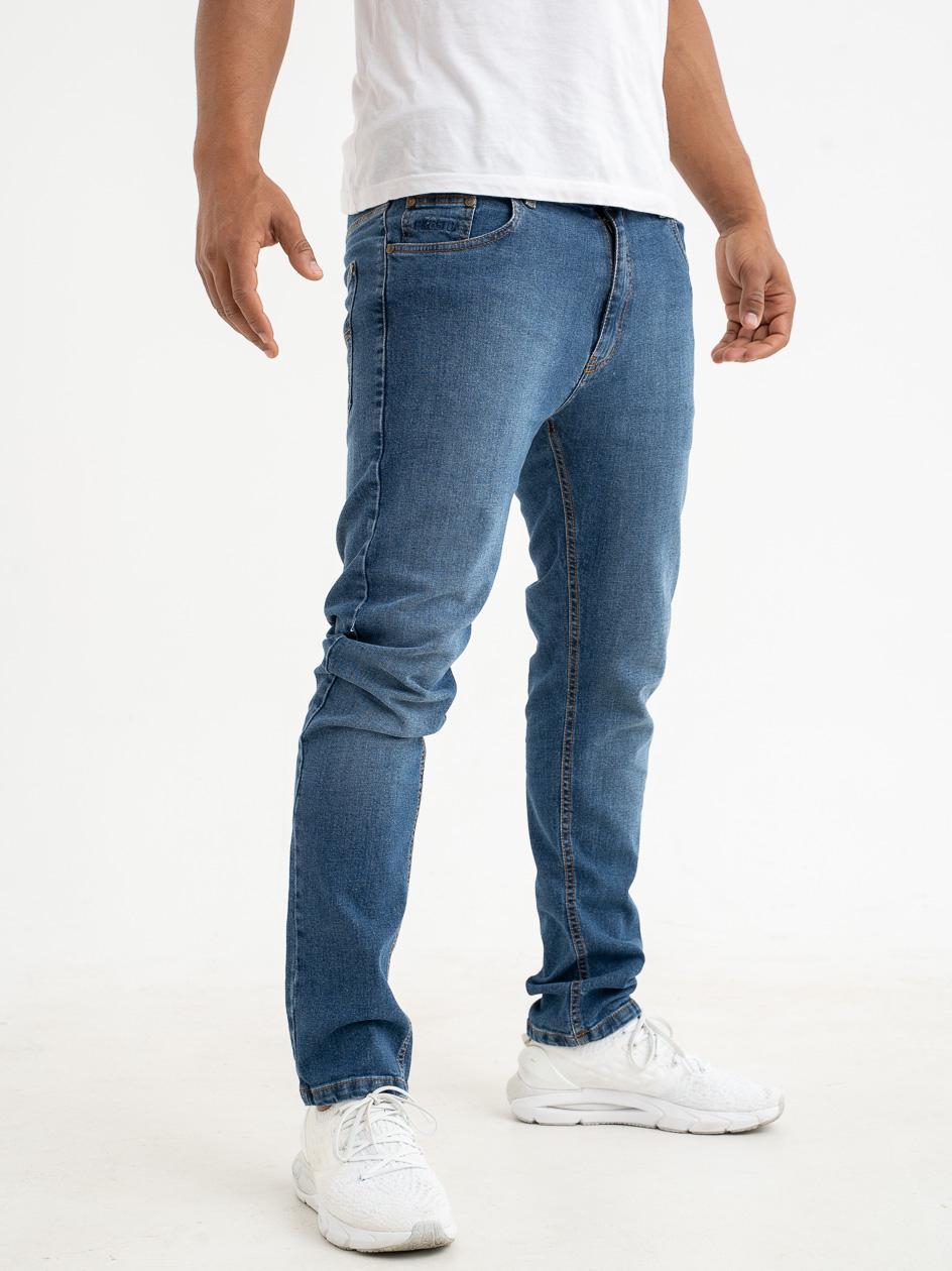 Spodnie Jeansowe Slim Prosto Zappe Niebieskie