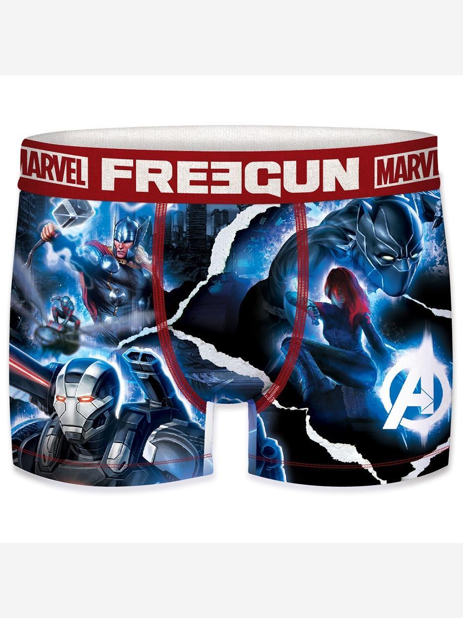 Bokserki Z Mikrofibry FreeGun Avengers Heroes Niebieskie