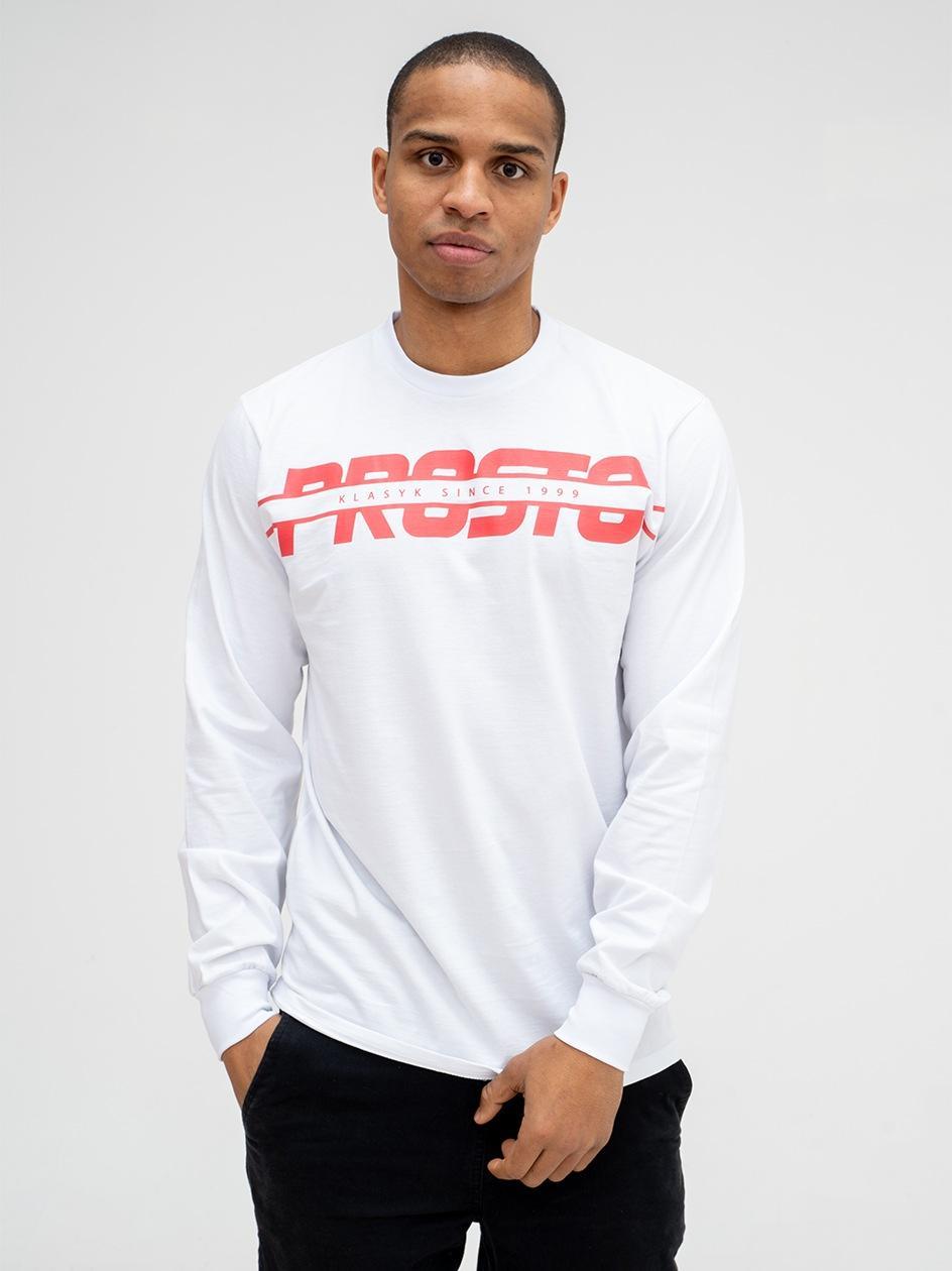 Koszulka Z Długim Rękawem Prosto Crosse Biała