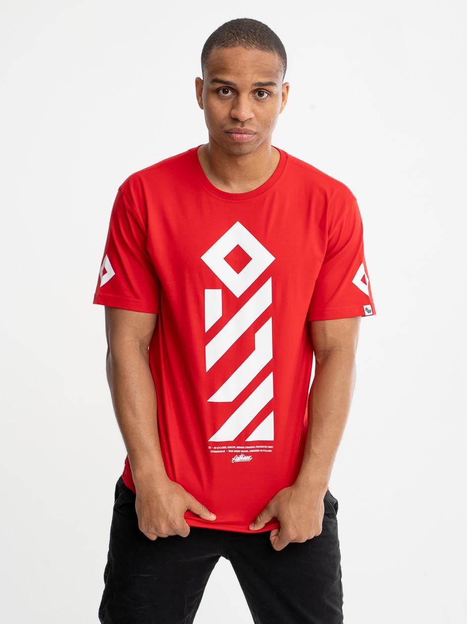 Koszulka Z Krótkim Rękawem Outsidewear Vertical Czerwona
