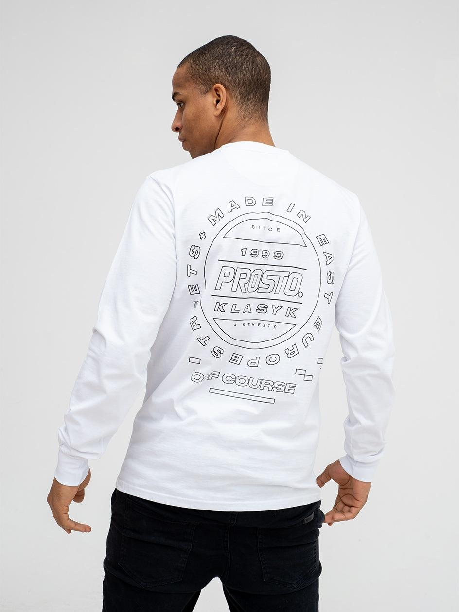 Koszulka Z Długim Rękawem Prosto Interna Biała