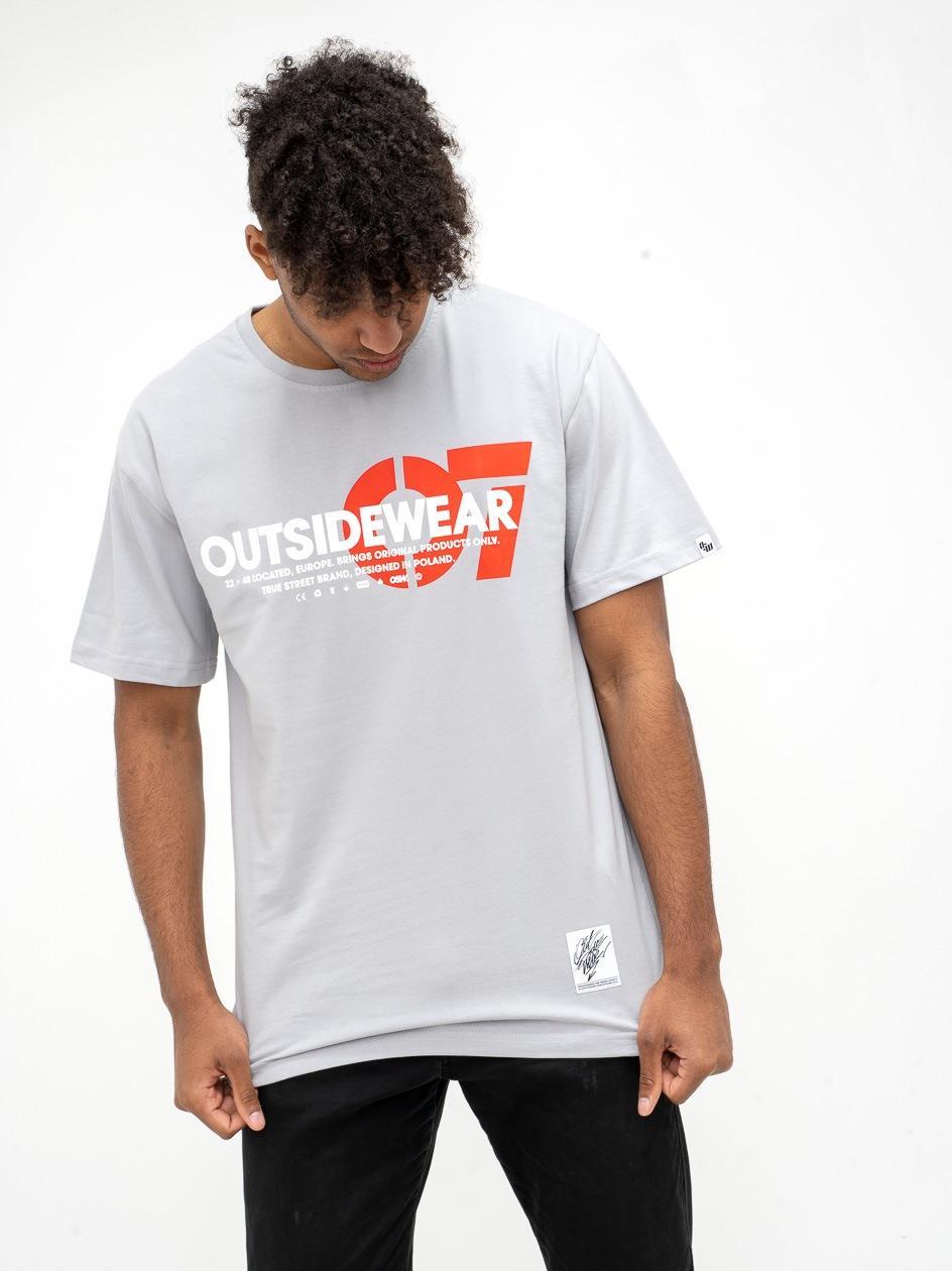 Koszulka Z Krótkim Rękawem Outsidewear 07 Jasna Szara