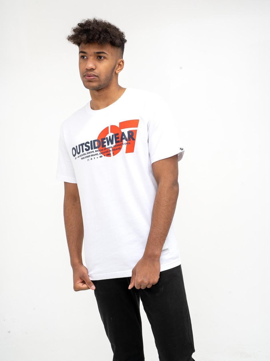 Koszulka Z Krótkim Rękawem Outsidewear 07 Biała
