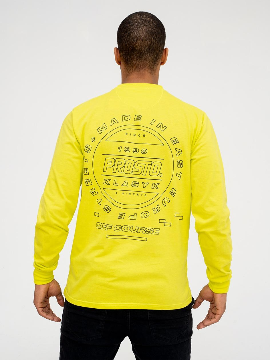 Koszulka Z Długim Rękawem Prosto Interna Limonkowa