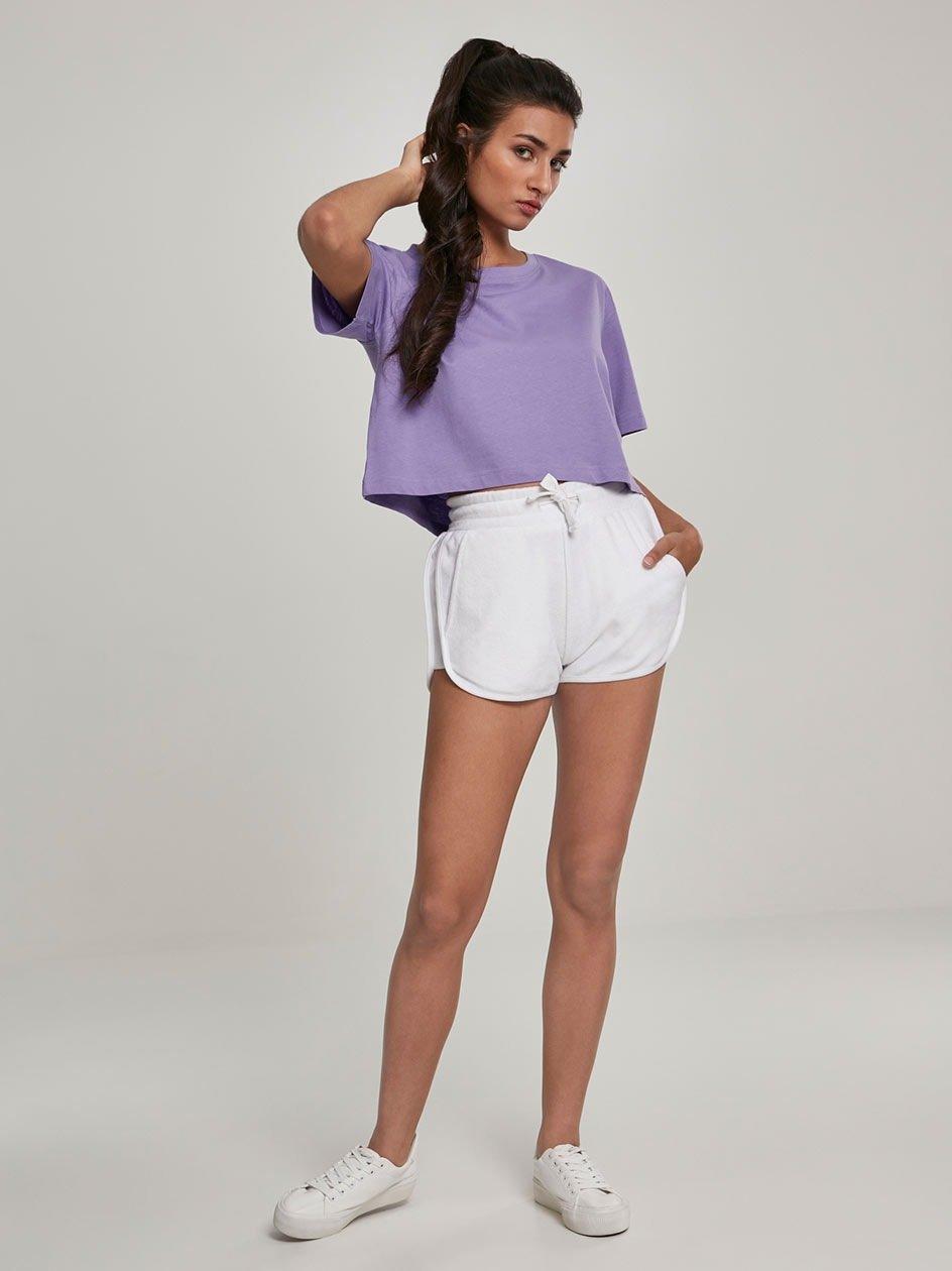 Ladies Towel Hot Pants White TB2630