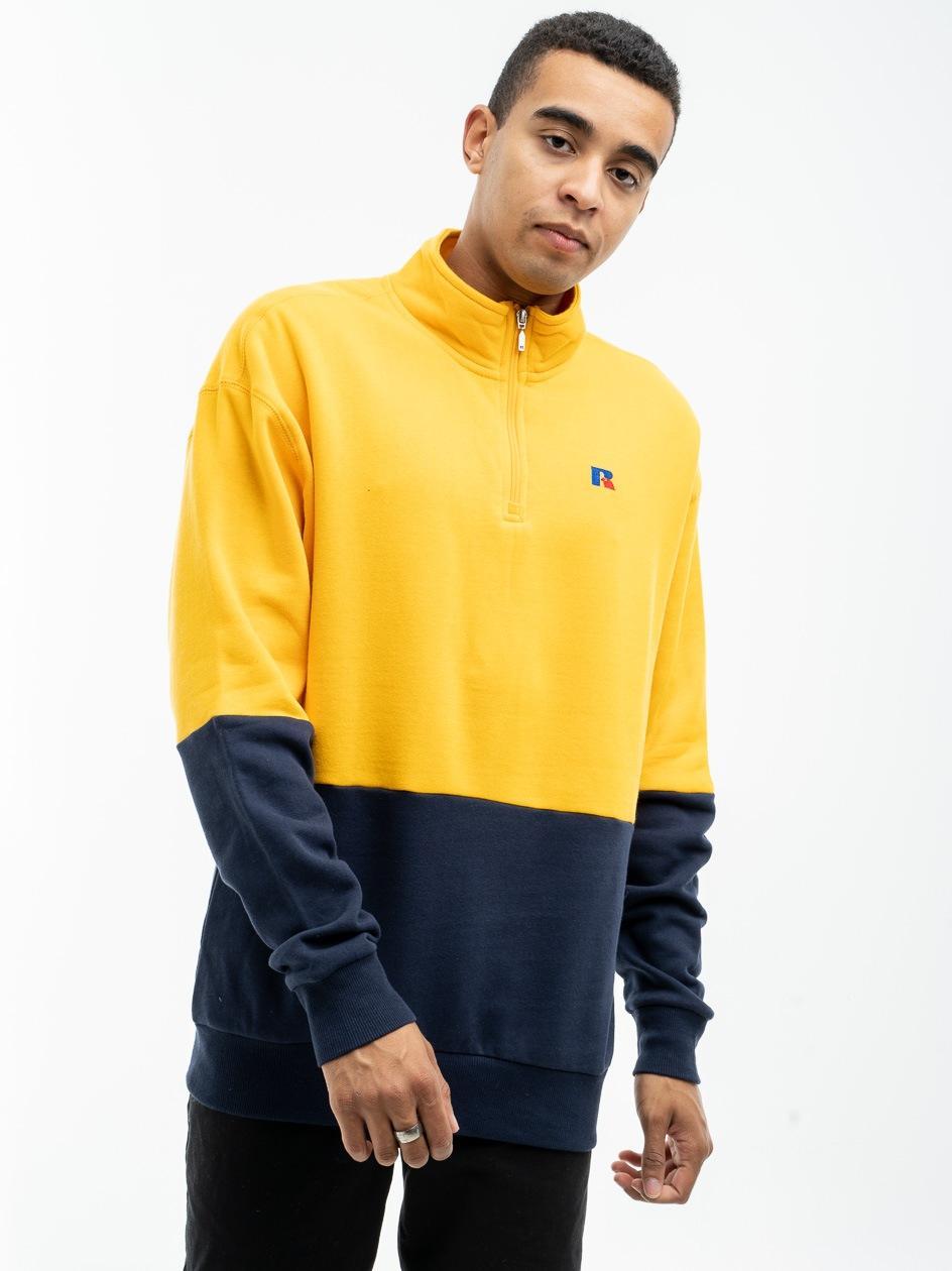 Bluza Rozpinana Do Połowy Bez Kaptura Russell Athletic Walter Żółta