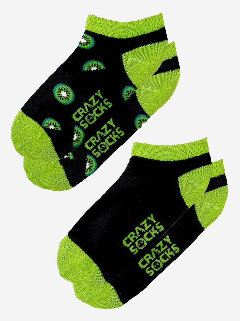 Zestaw 2 Par Skarpet Stopek Damskich Crazy Socks Kiwi Czarne