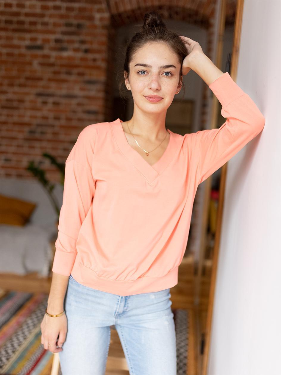 Damska Koszulka Z Długim Rękawem Point X Retro Jasna Różowa