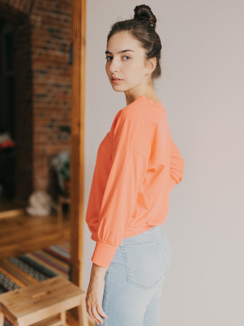 Damska Koszulka Z Długim Rękawem Point X Retro Różowa