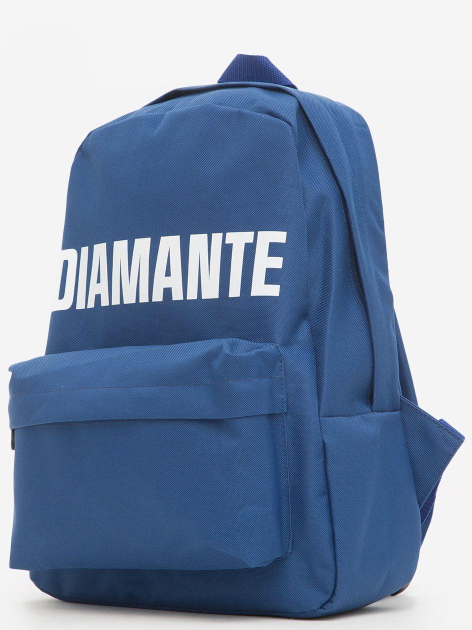 Big Diamante Front Pocket Backpack Navy
