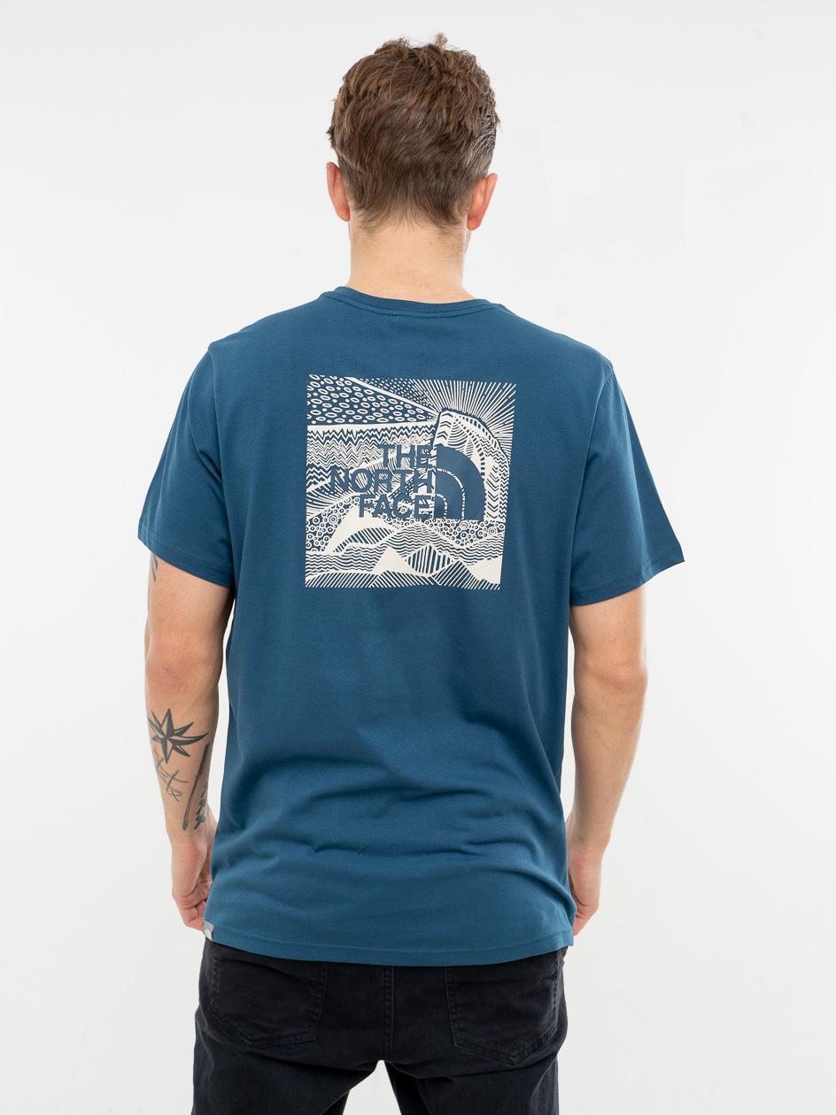 Koszulka Z Krótkim Rękawem The North Face Red Box Cel Niebieska