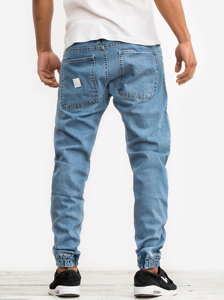 Spodnie Jeansowe Jogger Mass Base Jasne Niebieskie