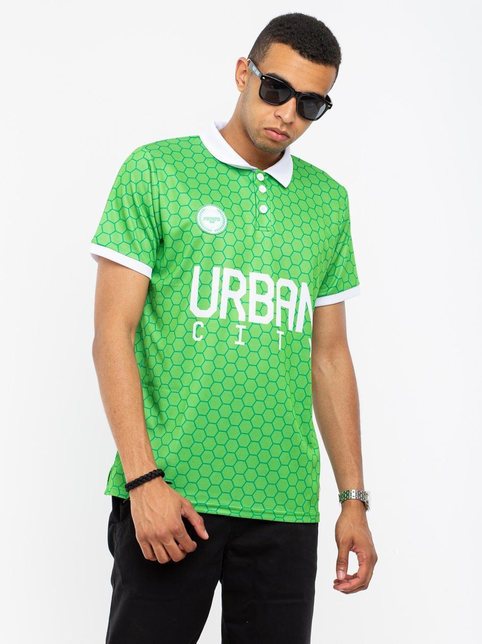 Koszulka Z Krótkim Rękawem Prosto FC Urb Klasyk x UrbanCity Zielona