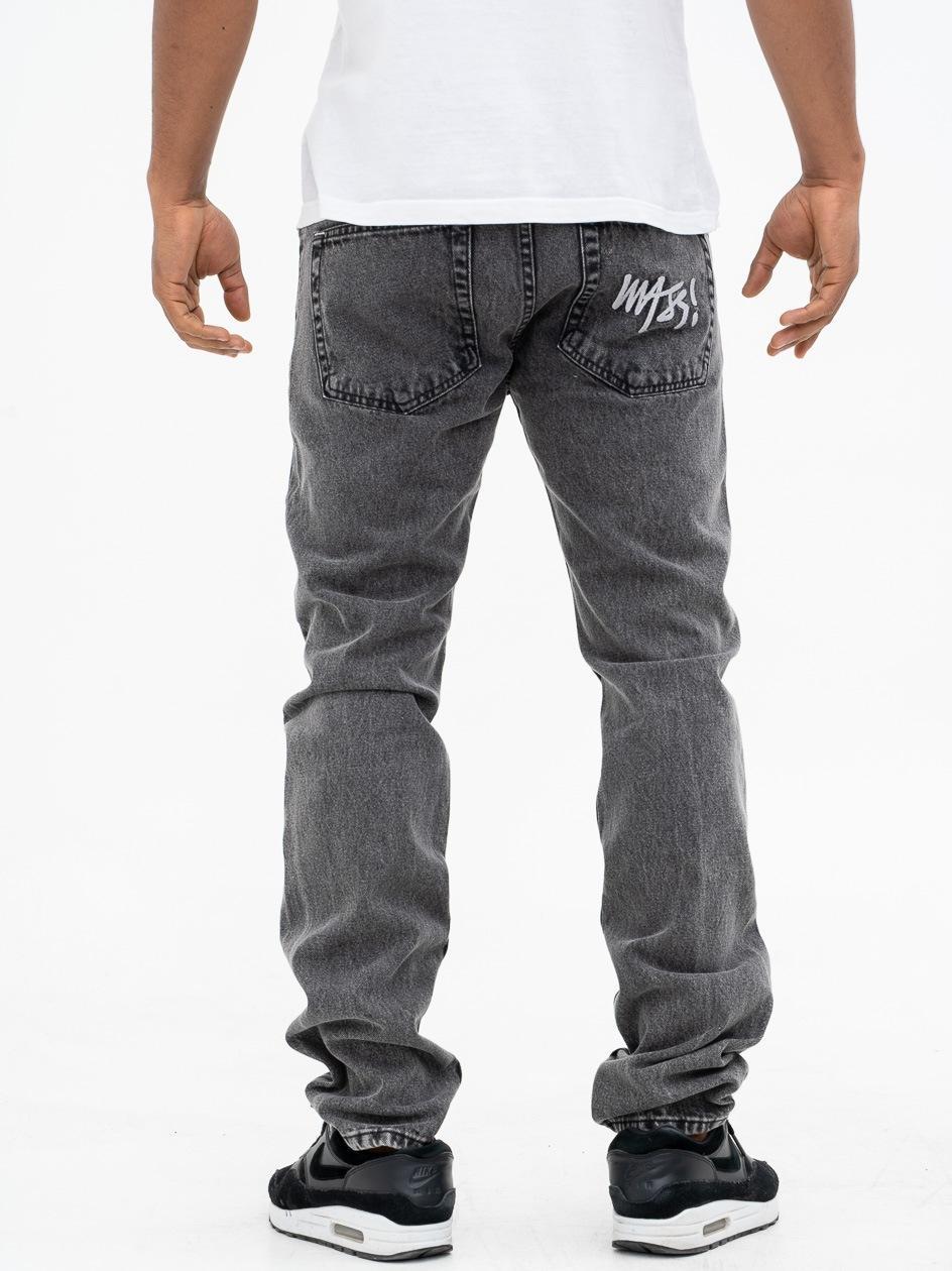 Spodnie Jeansowe Mass Signature Czarne Wycierane