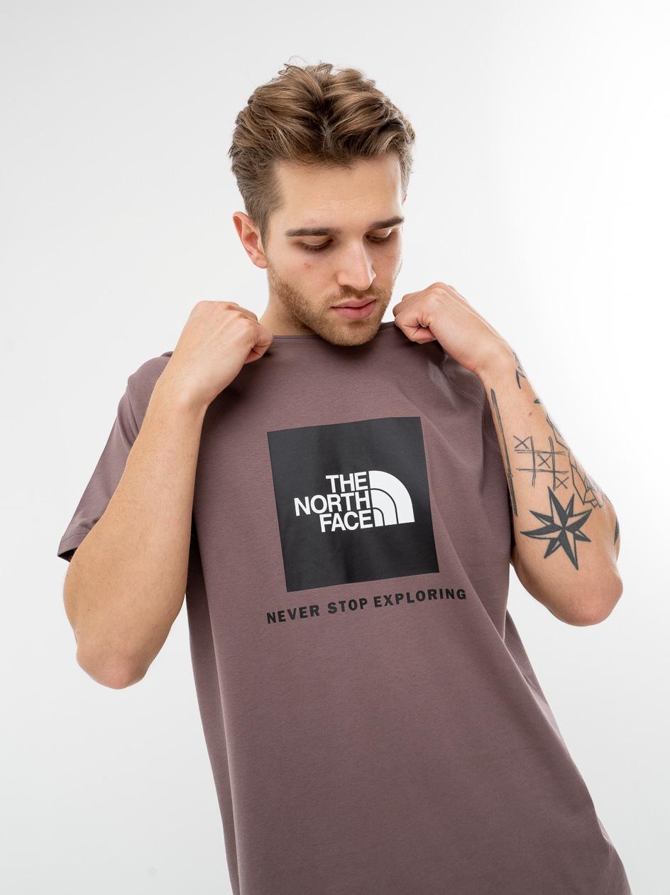 Koszulka Z Krótkim Rękawem The North Face Rag Red Box Brązowa