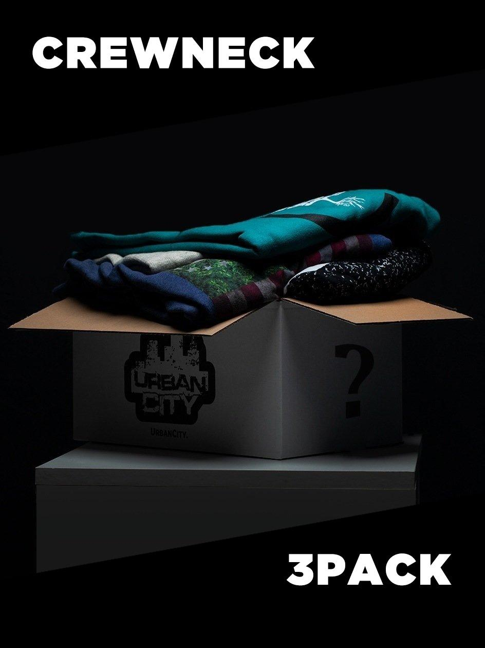 Zestaw 3 x Bluza Bez Kaptura Blind Box