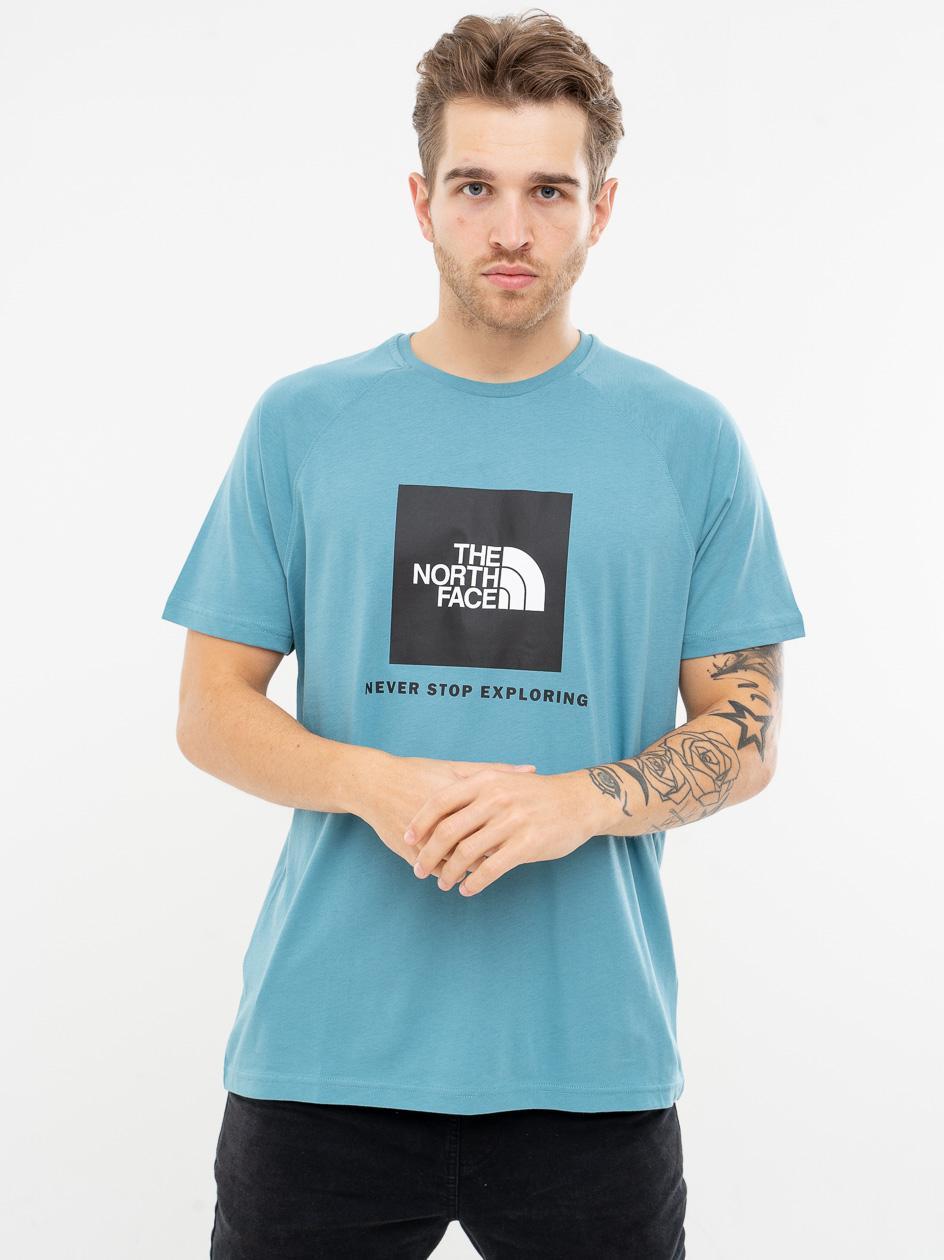 Koszulka Z Krótkim Rękawem The North Face Rag Red Box Niebieska