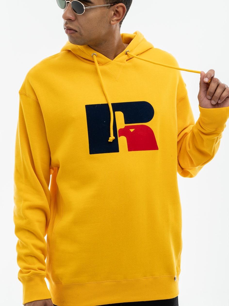 Bluza Z Kapturem Russell Athletic Mike Żółta