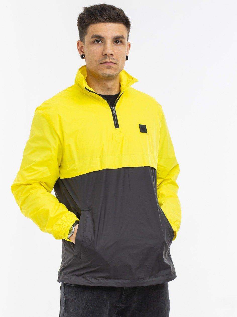 Crinkle Panel Track Jacket Bright Yellow Black TB2748