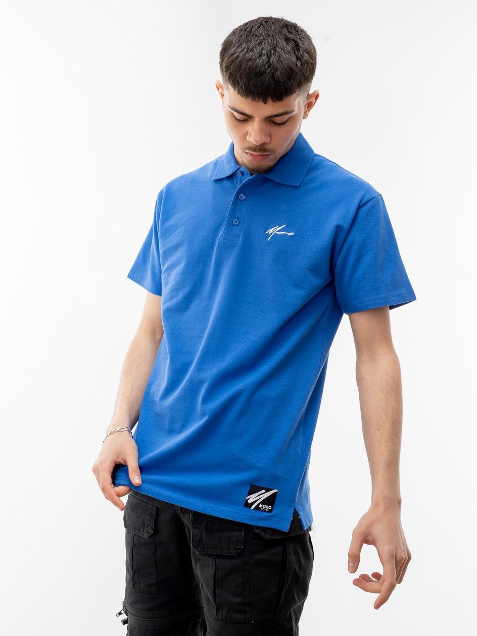 SS21 Koszulka Polo Z Krótkim Rękawem Moro Sport Mini Paris Niebieska