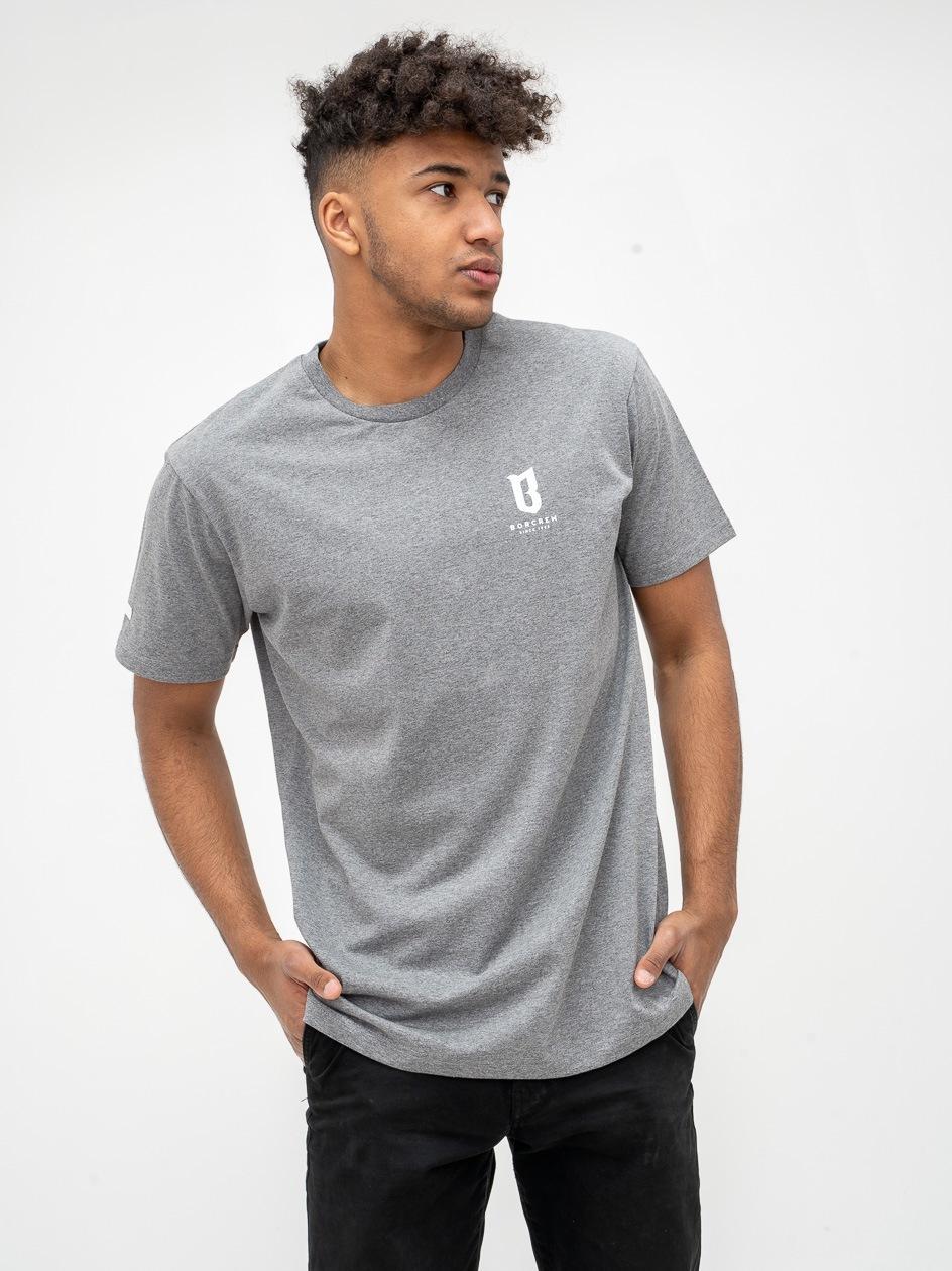 Koszulka Z Krótkim Rękawem BOR Basic Szara