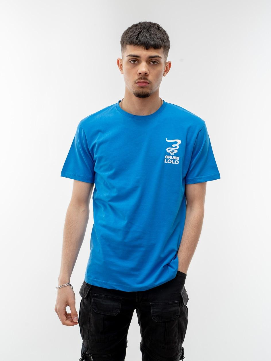 Koszulka Z Krótkim Rękawem Grube Lolo Small New Smoke Niebieska / Biała
