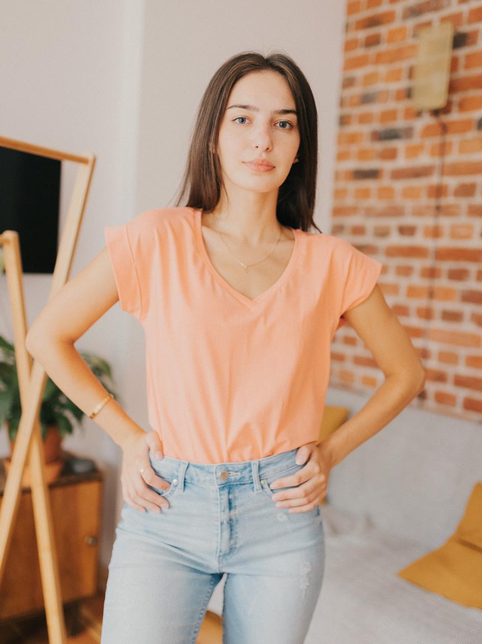 Damska Koszulka Z Krótkim Rękawem Point X Wrap Różowa