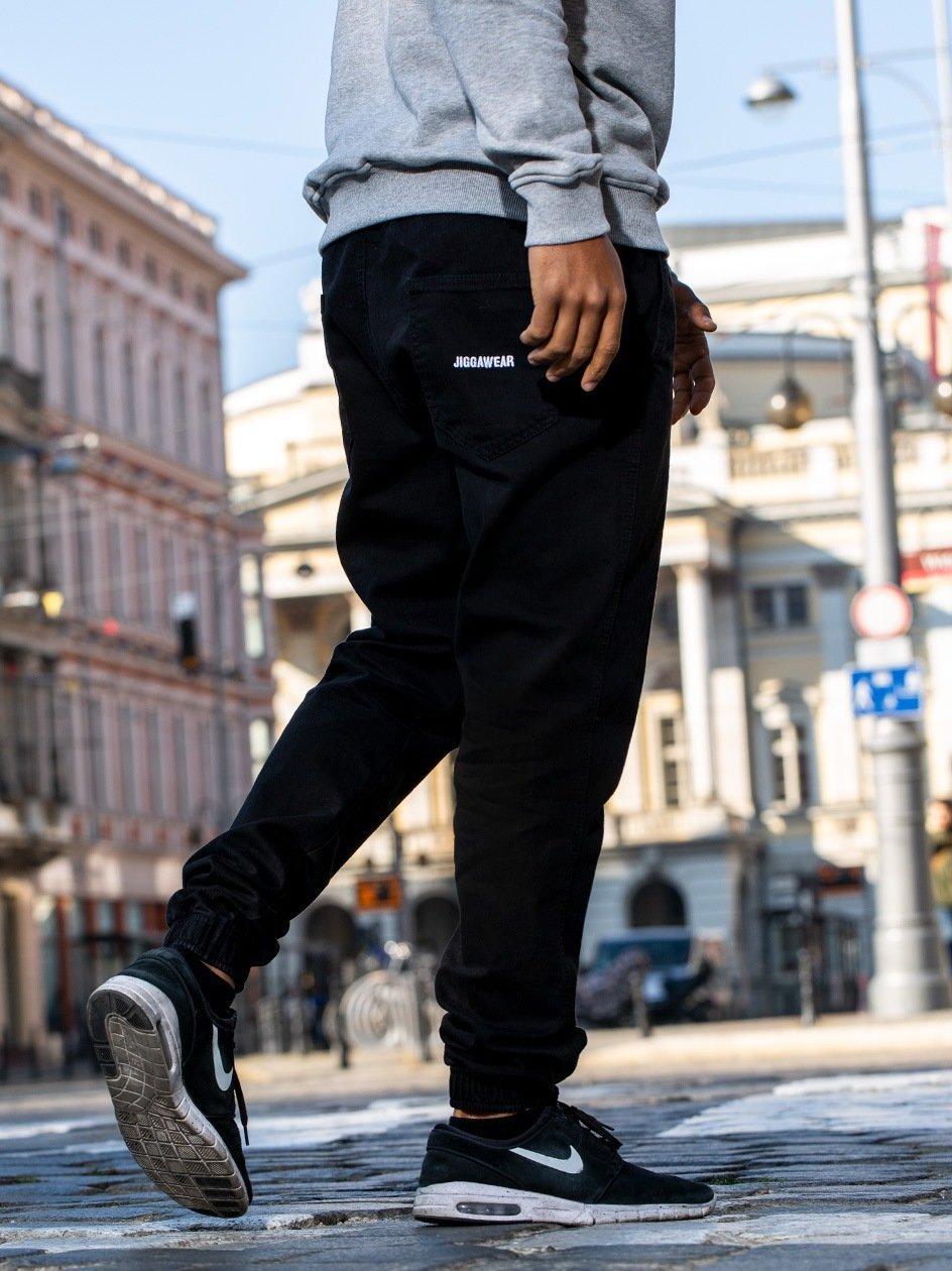Spodnie Jeansowe Jogger Jigga Name Czarne