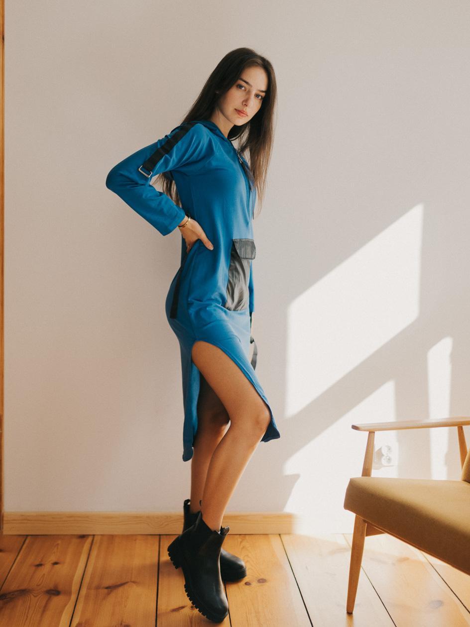 Sukienka  Point X Pocket Niebieska