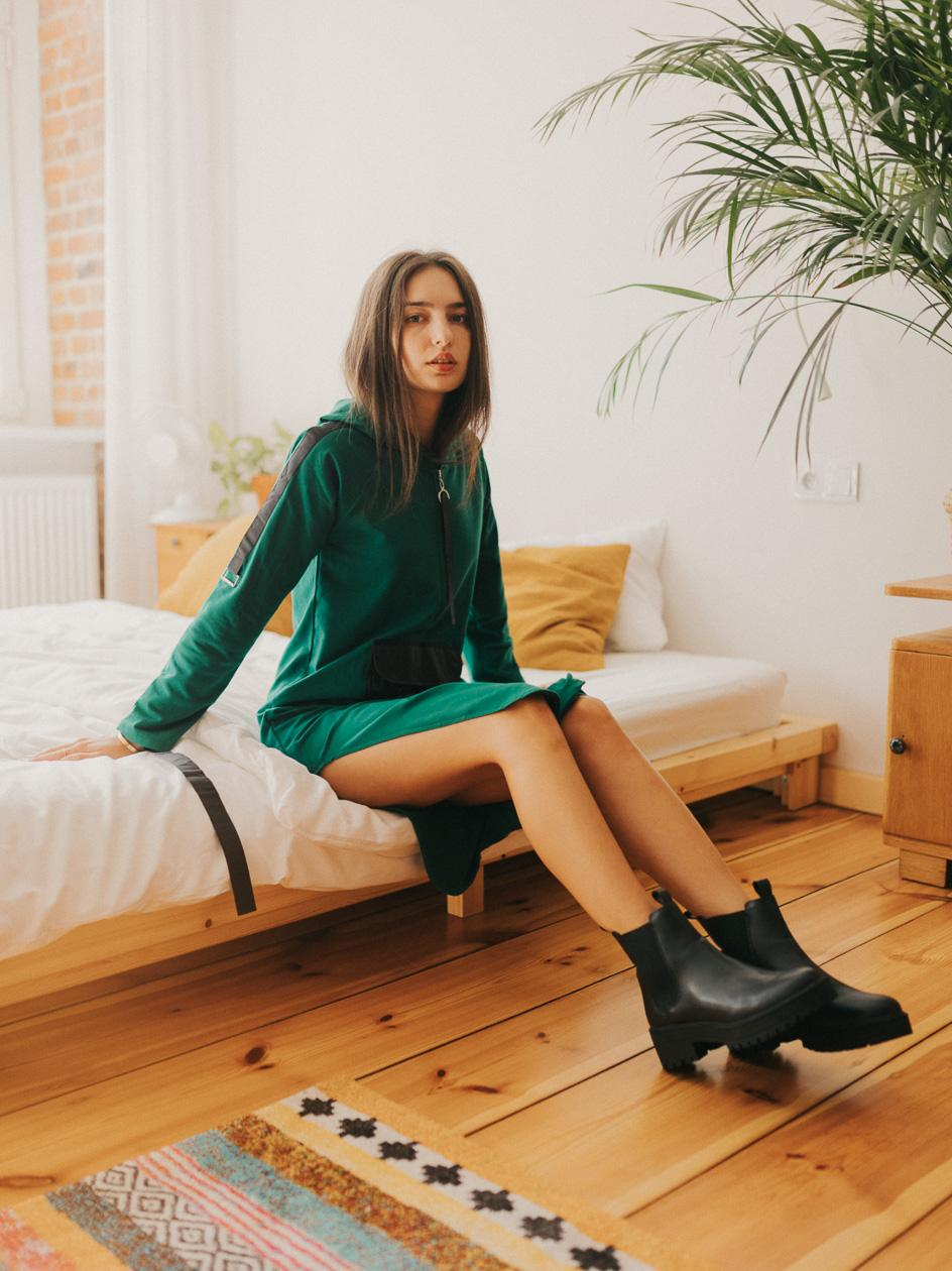 Sukienka  Point X Pocket Zielona