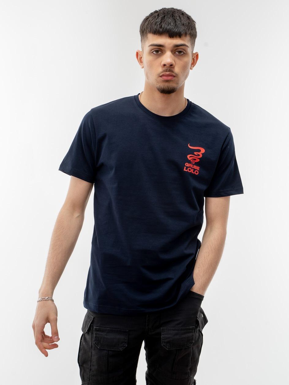 Koszulka Z Krótkim Rękawem Grube Lolo Small New Smoke Granatowa / Czerwona