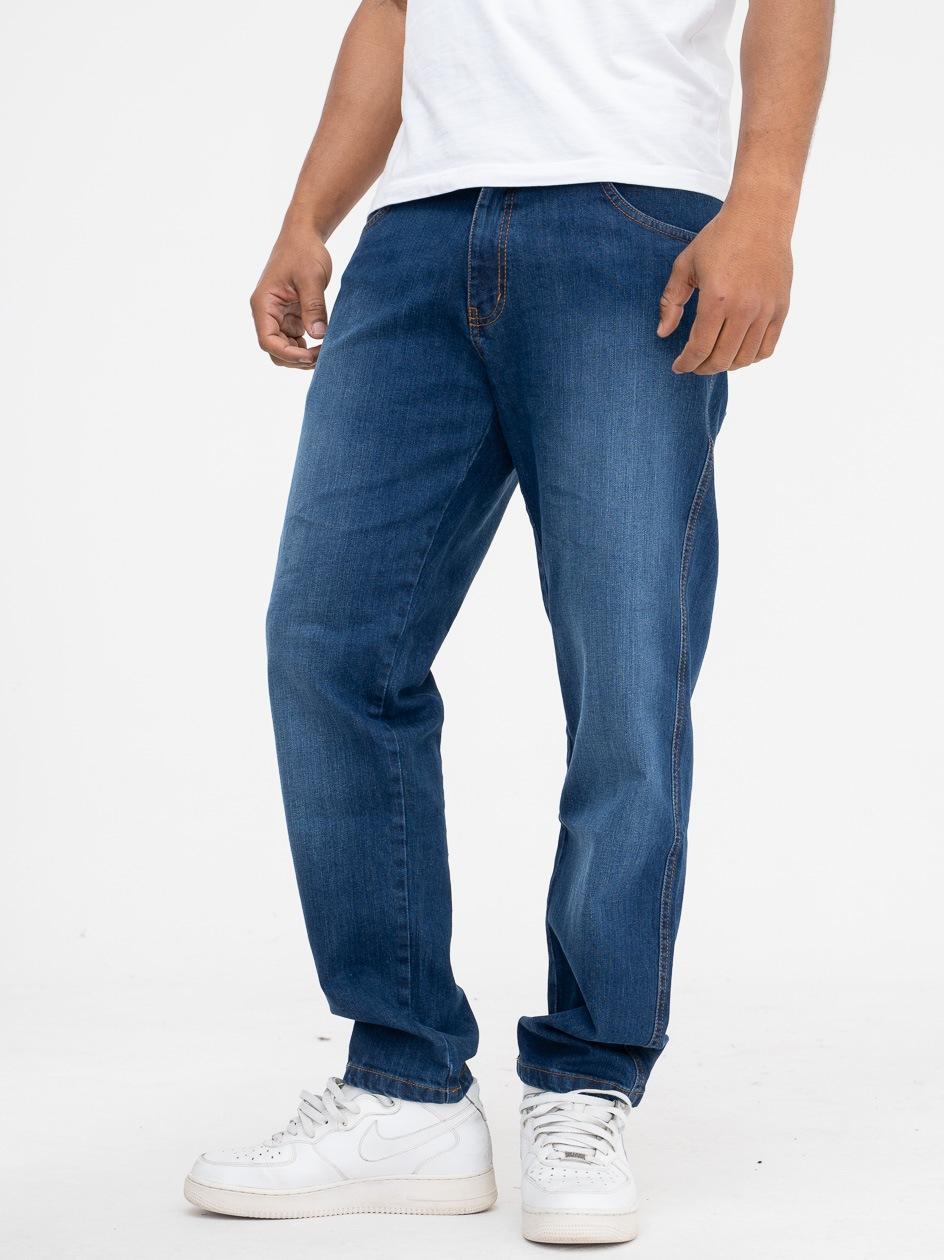 Spodnie Jeansowe Outsidewear Stripe 2.0 Ciemne Niebieskie