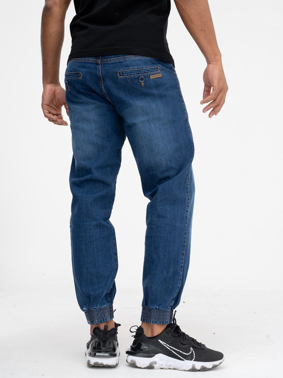 Spodnie Jeansowe Jogger Chino Ze Ściągaczem Outsidewear Classic EL Ciemne Niebieskie