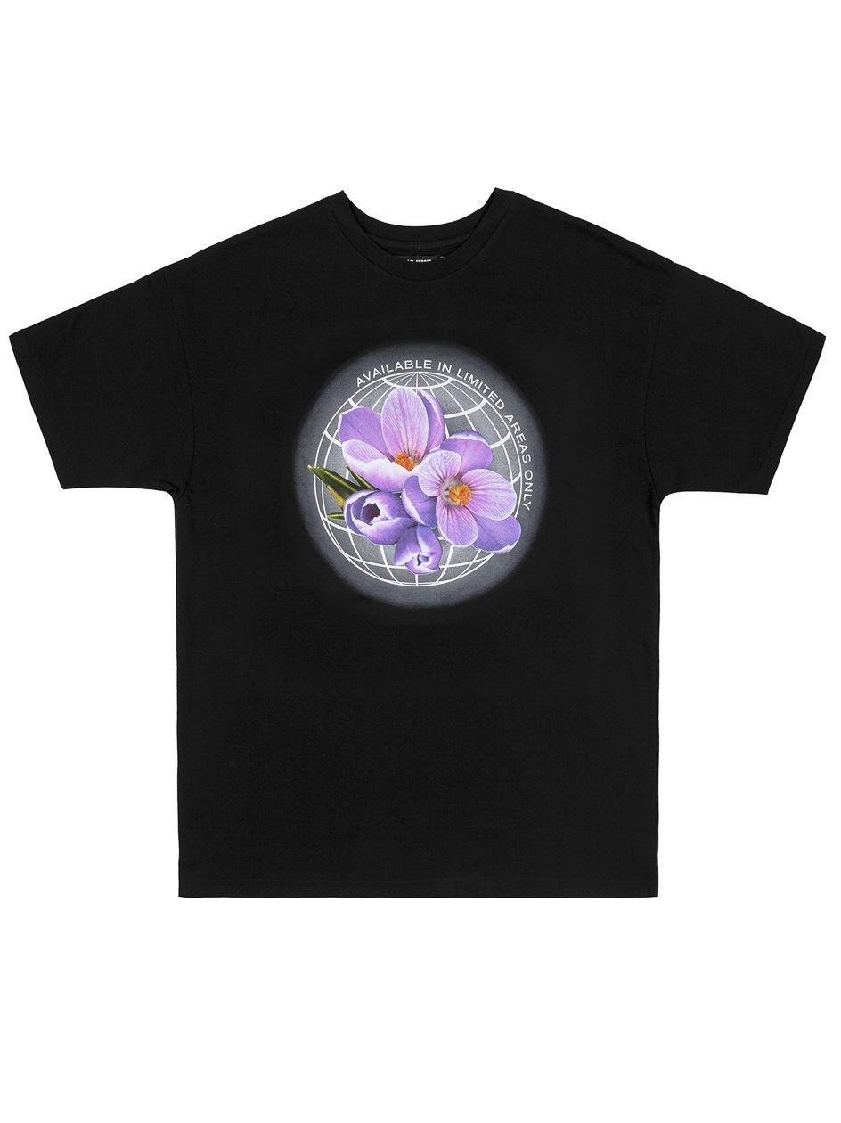 Damski T-Shirt Oversize Local Heroes Flower Czarna
