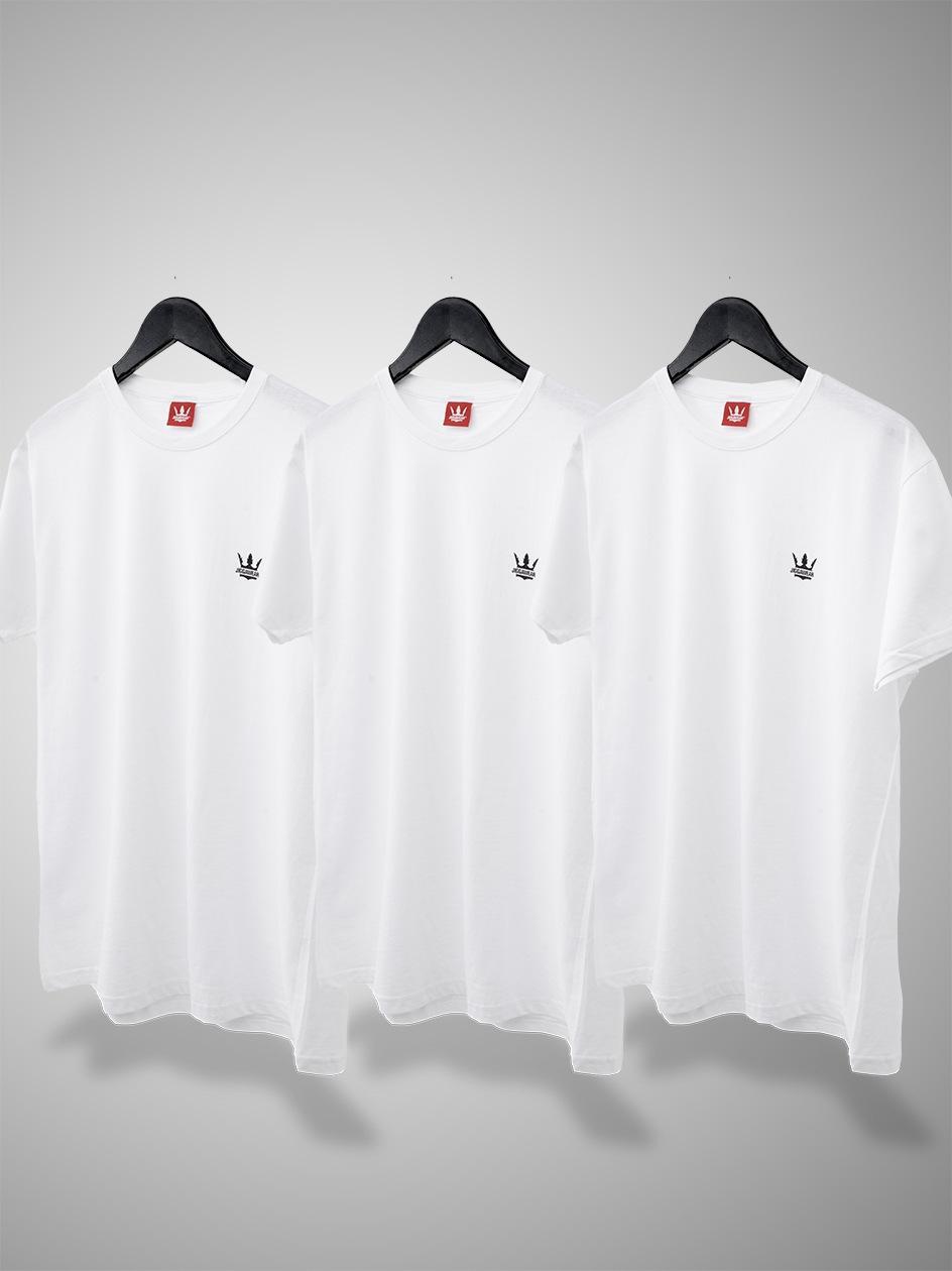 Zestaw 3 T-Shirtów Jigga Wear Mini Crown Białych