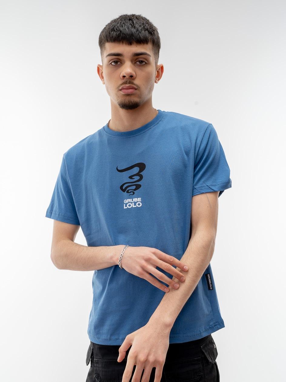 Koszulka Z Krótkim Rękawem Grube Lolo Centre Mini Logo Niebieska